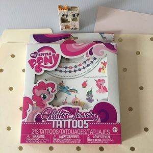 🆕 {My Little Pony} Temporary Glitter Tattoos